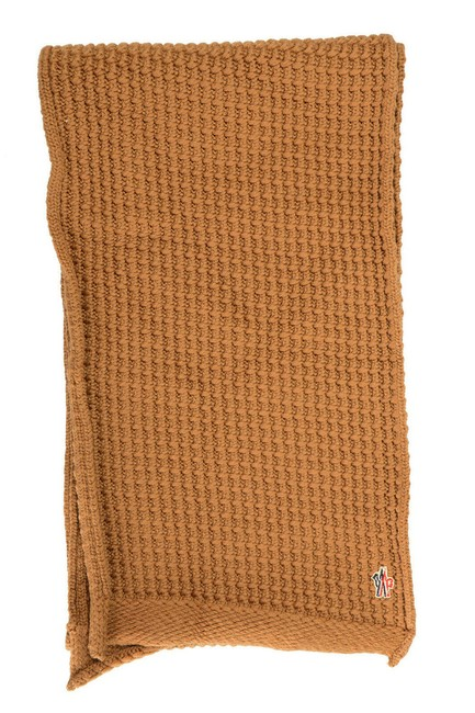 Item - Brown Unisex Wool Knitted Scarf/Wrap