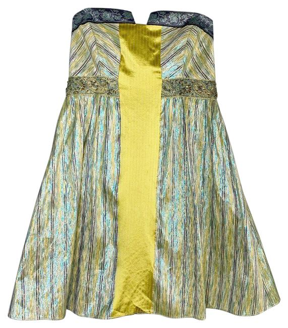 Item - Yellow Collection Blue Iridescent Strapless Cocktail Dress Size 2 (XS)