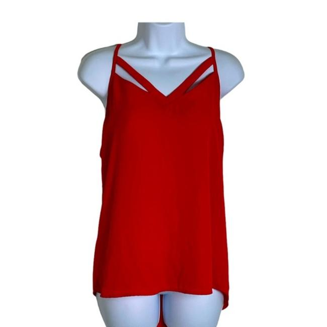 Item - Red Orange Anthropologie Cut Out Tank Top/Cami Size 8 (M)