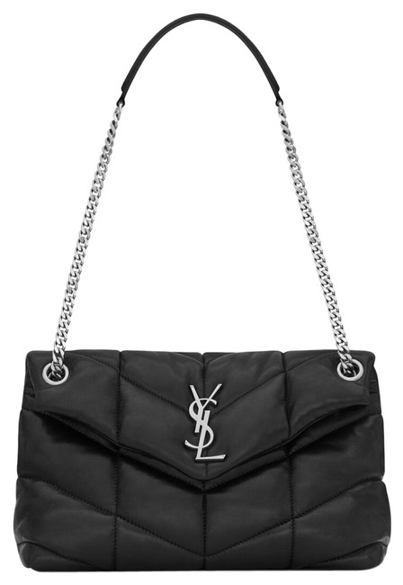 Item - Monogram Loulou Puffer Small In Quilted Black Lambskin Leather Shoulder Bag