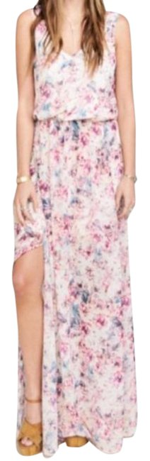 Item - Pink Kendall Floral Long Casual Maxi Dress Size 4 (S)