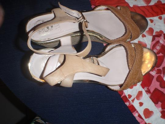 Vince Camuto High Heels Formal Size 11 Open Toes light brown/beige Sandals