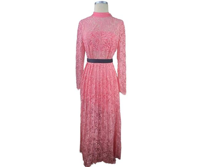 Item - Pink Sample Lace Maxi Short Casual Dress Size 4 (S)