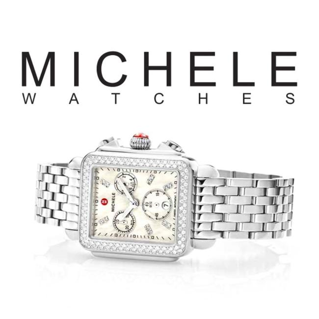 Item - Silver and Diamond Deco Stainless Watch