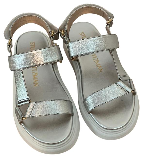 Item - Silver and White Zoelie In Sandals Size US 5.5 Regular (M, B)