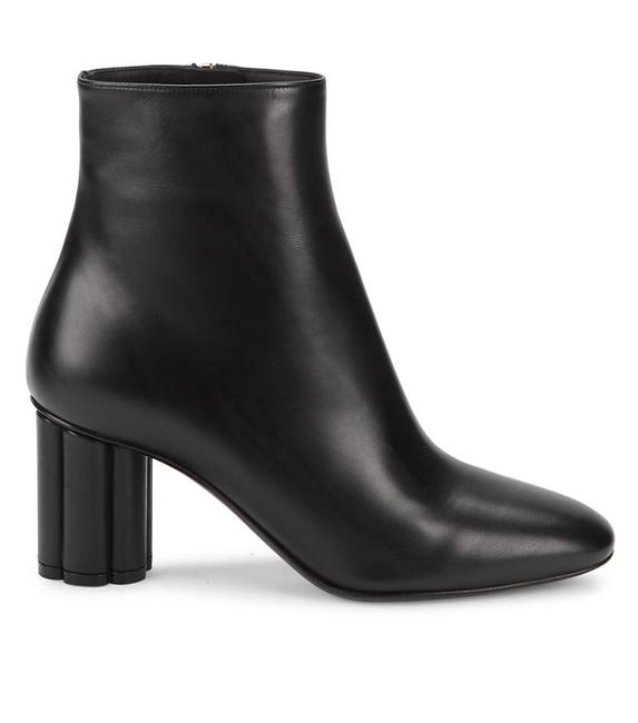 Item - Black Heeled Leather Boots/Booties Size US 9.5 Wide (C, D)