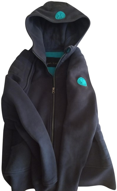 Item - Blue with Teal Lining Scuba Hoodie Activewear Size 8 (M)