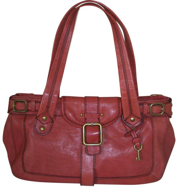 Item - Light Firebrick Cowhide Leather Tote