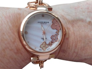 Akribos XXIV AKRIBOS XXIV DIAMOND AND MOTHER OF PEARL BRACELET WATCH - NEW WITH TAGS - MSRP $395.00
