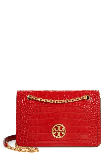 Item - Carson Convertible Croc Embossed Crossboby Red Leather Shoulder Bag