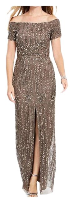 Item - Lead Off-the-shoulder Beaded Gown Long Formal Dress Size 12 (L)