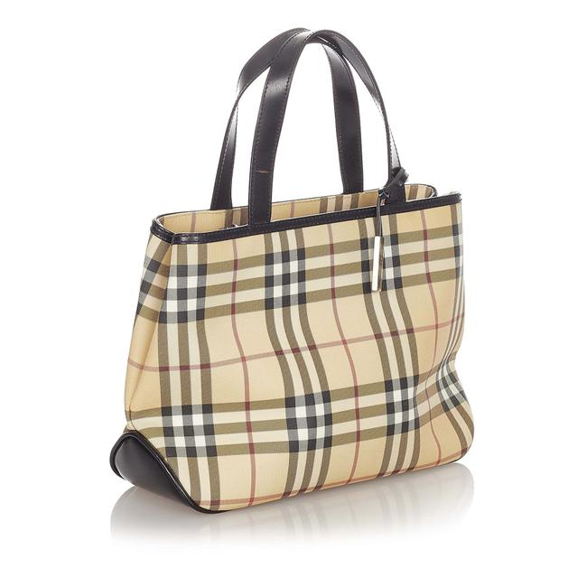 Item - Bag House Check Brown Leather Tote