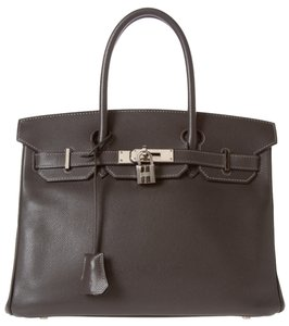 Herms Birkin Hermes Satchel in Grey
