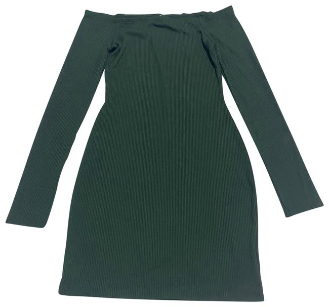 Item - Green Dark Small Mid-length Cocktail Dress Size 4 (S)