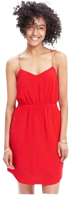 Item - Red Silk Starview Cami Short Casual Dress Size 4 (S)