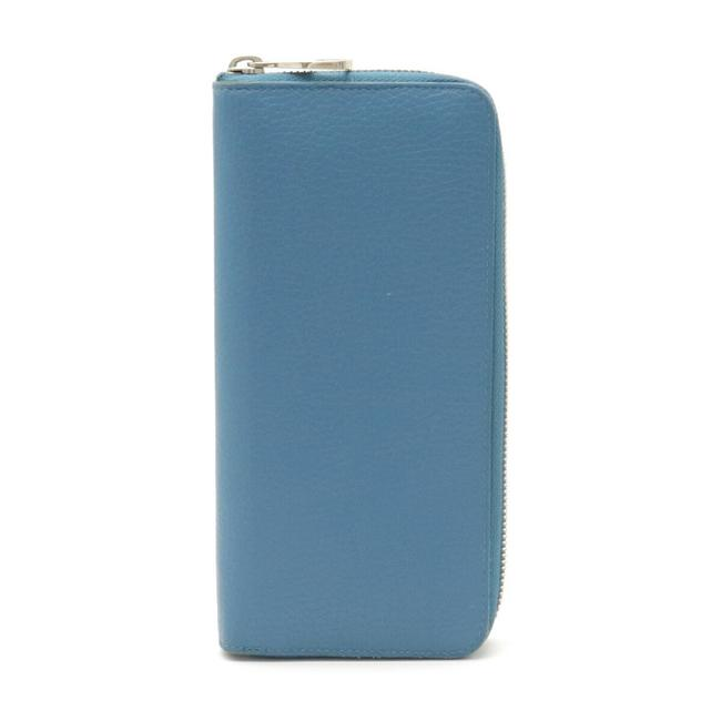 Item - Blue Zippy Vertical Round Taurillon Leather M58411 Wallet