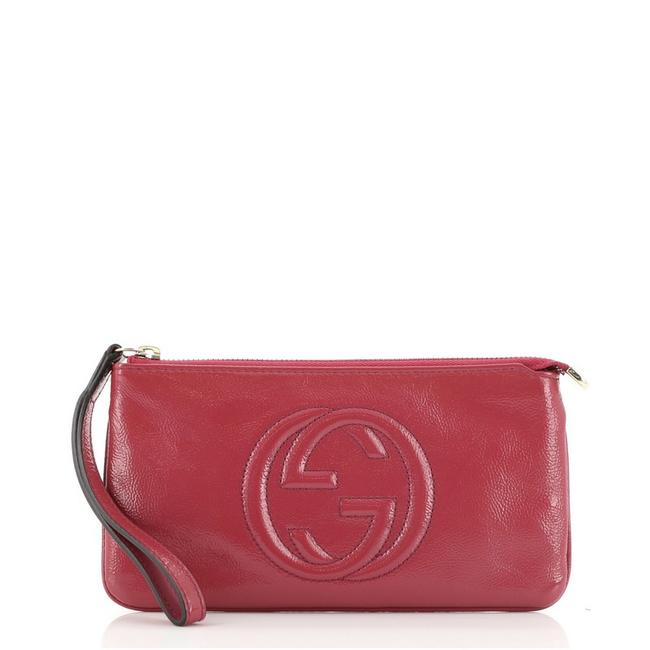 Item - Soho Pouch Pink Patent Leather Wristlet