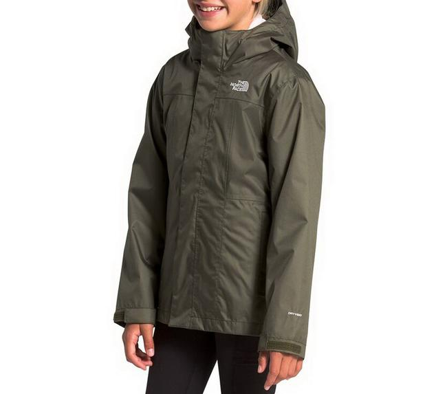 Item - Girl's Taupe Green/ Purdy Pink Osolita 2.0 Triclimate Waterproof 3-in-1 Jacket Coat Size 14 (L)