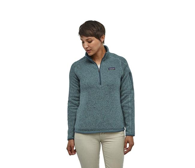 Item - Blue Green Better Sweater 1/4 Zip Pullover S Activewear Size 4 (S)
