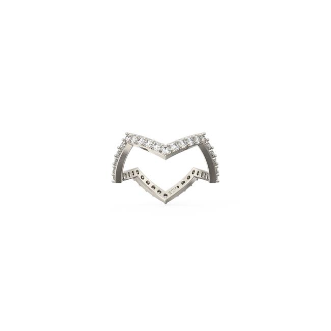 Item - 14k White Gold 1.08ct Ladies Zigzag Eternity Band In Ring