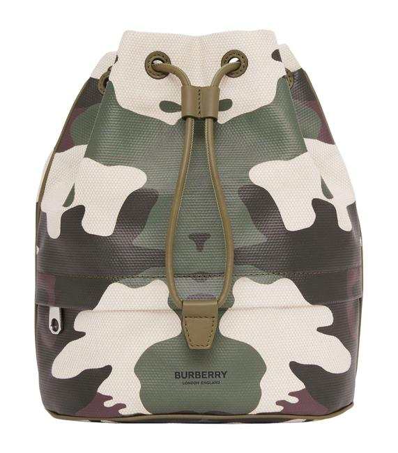 Item - Camouflage Drawstring Pouch Multicolor Leather & Cotton Clutch