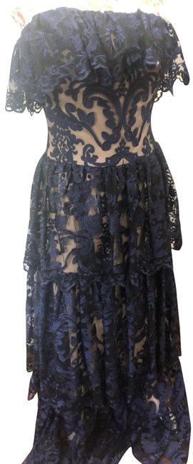 Item - Blue and Tan Long Formal Dress Size 8 (M)