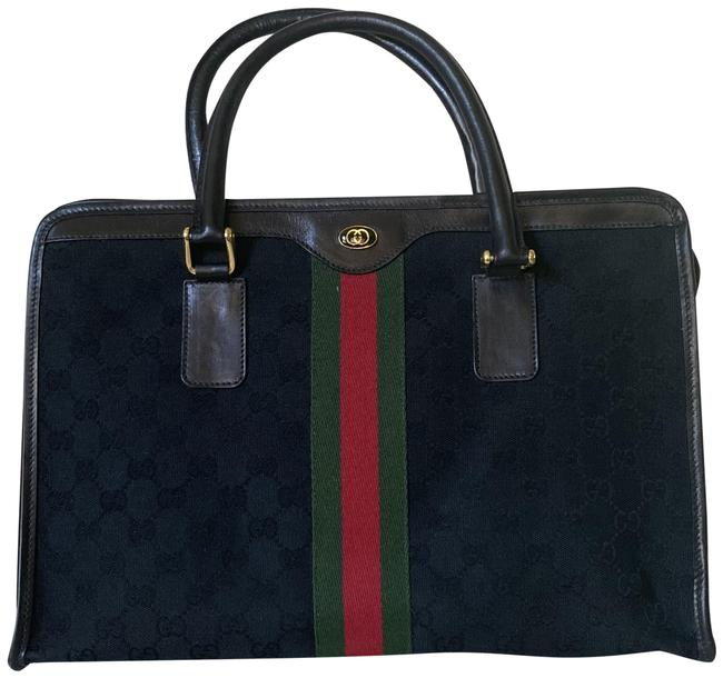 Item - Ophidia Top Handle Monogram Accessory Collection Black Gg Canvas Tote