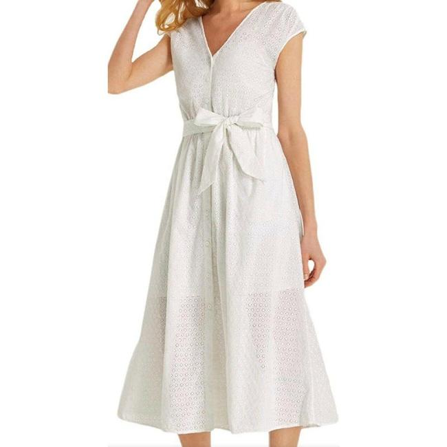 Item - White Collection Eyelet Button Down Mid-length Casual Maxi Dress Size 4 (S)