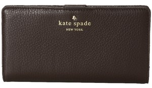 Kate Spade Kate Spade Cobble Hill Dark and Stormy Leather Stacy Wallet