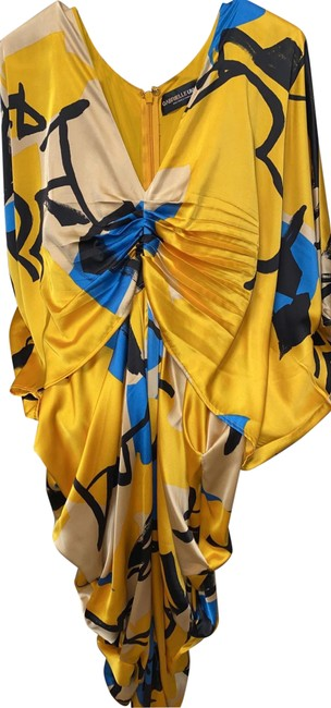 Item - Gold Blue Gabrielle Union Collection Long Night Out Dress Size 8 (M)