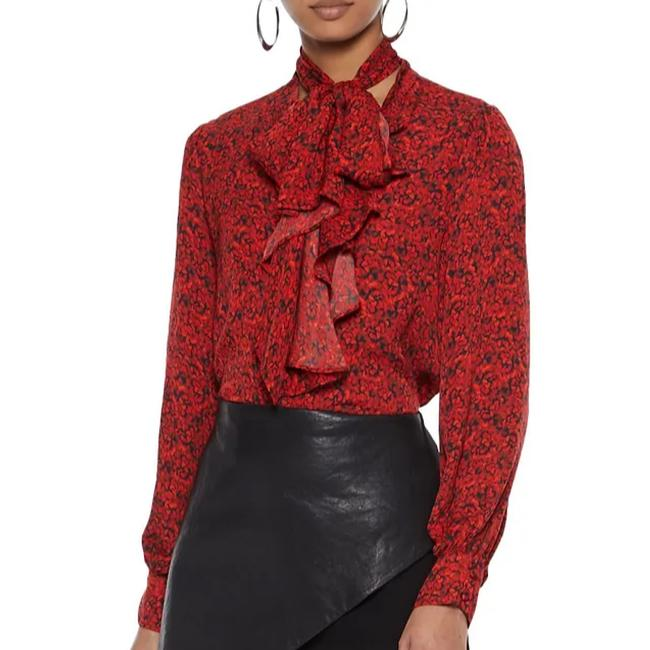 Item - Red and Black Blouse Size 12 (L)