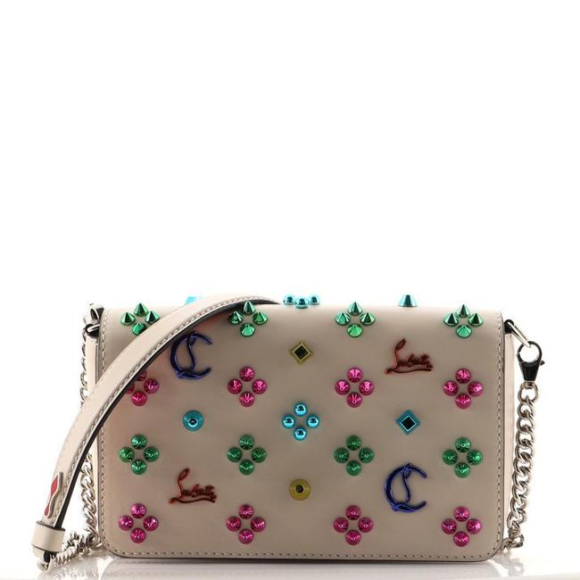 Item - Zoompouch Embellished Neutral Leather Cross Body Bag