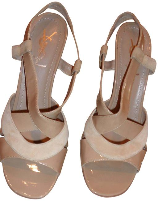 Item - Tan Yves Fabulous Heel Sandals Combination Of Patent Le Formal Shoes Size US 10.5 Regular (M, B)