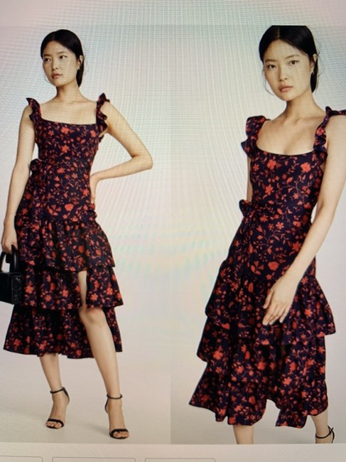 Item - Navy/Red Mid-length Casual Maxi Dress Size 2 (XS)