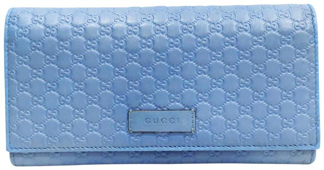 Item - Blue Long Micro ssima Leather Wallet