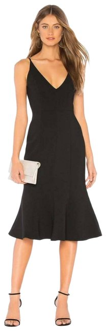 Item - Black Revolve Camille Bonded Flounce / Small Cocktail Dress Size 4 (S)