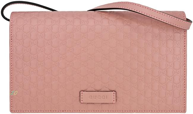 Item - 466507 Micro ssima Soft Pink Leather and Gg Leather Cross Body Bag