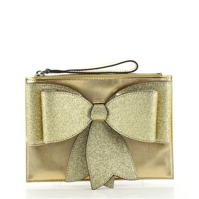 Item - Children's Bow Wristlet Gold Leather Clutch