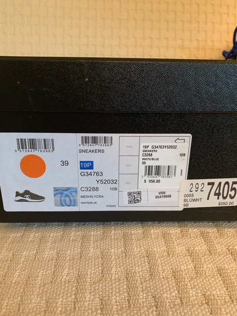 Chanel Blue/White 19p Sneakers Size EU 39 (Approx. US 9) Regular (M, B) Chanel Blue/White 19p Sneakers Size EU 39 (Approx. US 9) Regular (M, B) Image 12