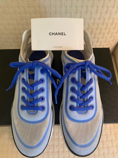 Chanel Blue/White 19p Sneakers Size EU 39 (Approx. US 9) Regular (M, B) Chanel Blue/White 19p Sneakers Size EU 39 (Approx. US 9) Regular (M, B) Image 3