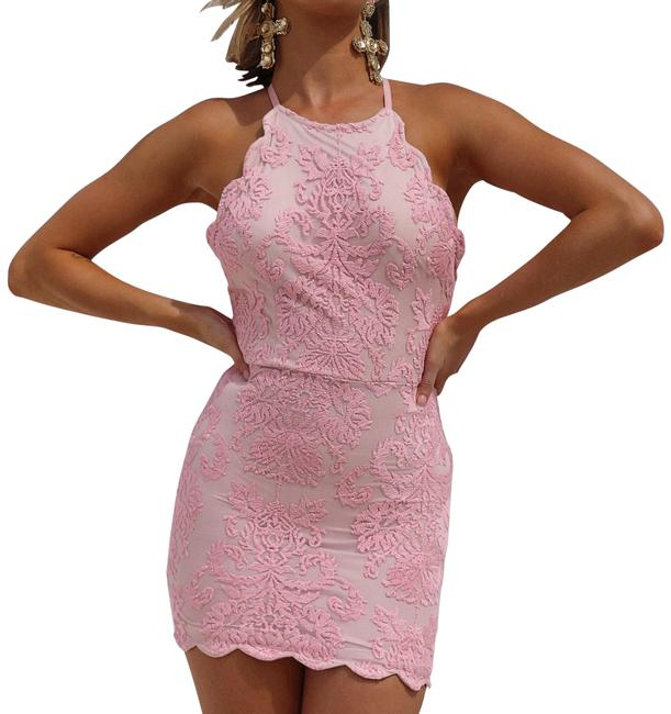 Item - Pink and Beige Baby Inca Lace Short Formal Dress Size 2 (XS)
