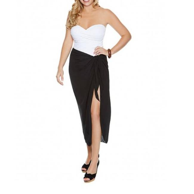 Item - Black Sheer Coverup Wrap Skirt Dress One-piece Bathing Suit Size OS (one size)