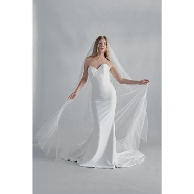 Item - White Long By New Phrenology Studios Ruffle Tulle Cathedral Bridal Veil