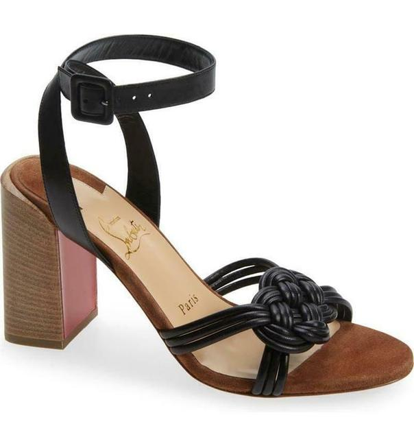Christian Louboutin Black Ella 85 Braided Leather Strappy Wooden Heels Sandals Size EU 41.5 (Approx. US 11.5) Regular (M, B) Christian Louboutin Black Ella 85 Braided Leather Strappy Wooden Heels Sandals Size EU 41.5 (Approx. US 11.5) Regular (M, B) Image 1