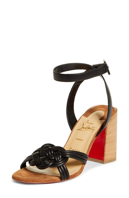 Christian Louboutin Black Ella 85 Braided Leather Strappy Wooden Heels Sandals Size EU 41.5 (Approx. US 11.5) Regular (M, B) Christian Louboutin Black Ella 85 Braided Leather Strappy Wooden Heels Sandals Size EU 41.5 (Approx. US 11.5) Regular (M, B) Image 11