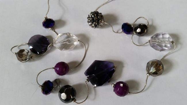 Ann Taylor LOFT Silver Tone and Purple Beaded Necklace Ann Taylor LOFT Silver Tone and Purple Beaded Necklace Image 5
