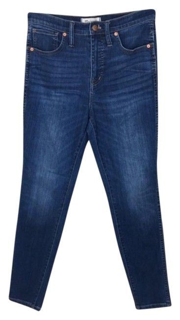 """Item - Blue Medium Wash 10"""" High-rise In Danny Skinny Jeans Size 28 (4, S)"""