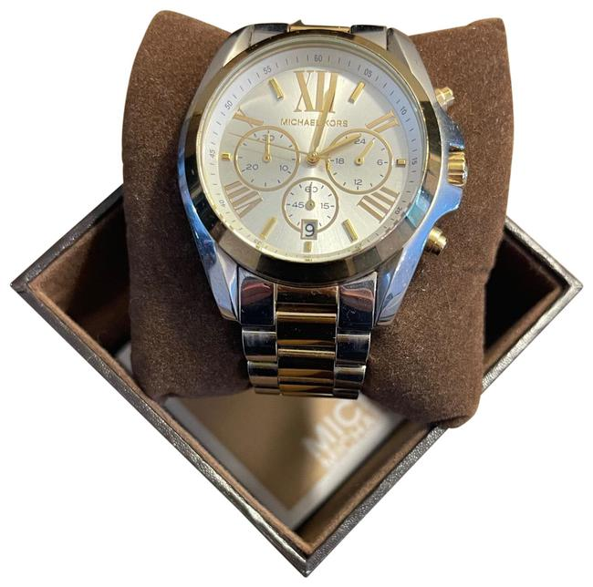 Item - Silver and Gold Two Tone 42mm Watch