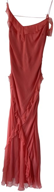 Item - Coral 2000 Design By John Galliano Long Night Out Dress Size 2 (XS)