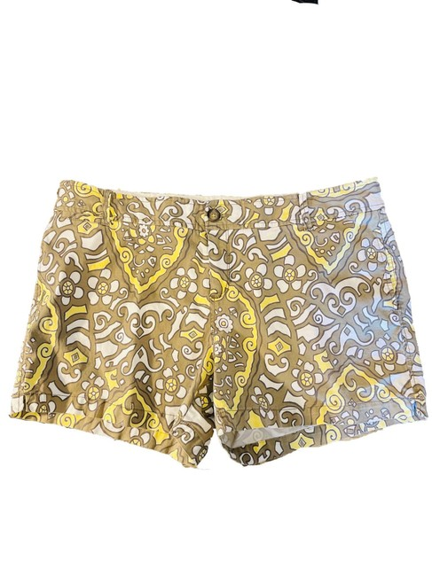 Item - Multicolor Flat Front Low Rise Patterned Chino Shorts Size 14 (L, 34)
